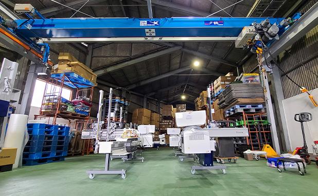 自社倉庫の航空写真