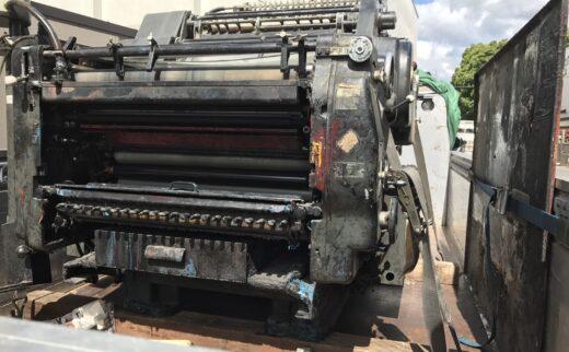 ドラマ撮影で使う印刷機の搬出→輸送→搬入